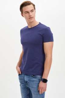Defacto Men Knitted Navy NV95 T-Shirt -Xsmall