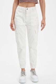 Defacto Women Woven Ecru ER105 Trouser -32