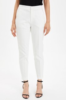Defacto Women Woven White WT34 Trouser -38