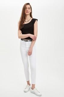 Defacto Women Woven White WT34 Trouser -34