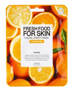 Fresh Food For Skin Facial Sheet Mask Orange