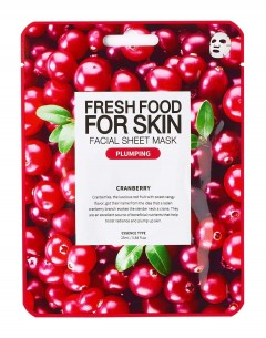 Fresh Food For Skin Facial Sheet Mask Cranberry