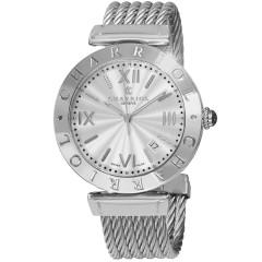 Charriol Mens Alexandre Silver Dial Stainless Steel Swiss Quartz Watch ALS.51.101