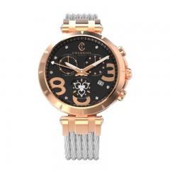 Charriol Lady Stainless Steel/Gold Bracelet Lady Chrono Watch C36P.51.006