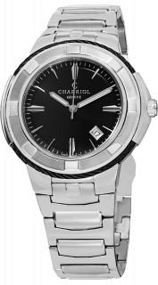 Charriol Celtic Xl Gents 43Mm Silver Steel Bracelet & Case Watch CE443B.930.104