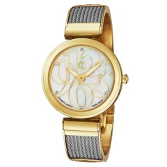 Charriol Gold/Stainless Steel Bracelet Mother Of Pearl Dial Womens Watch FE32.104.004