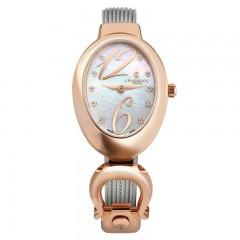 Charriol Stainless Steel/Rose Gold Bracelet Marie Olga Ladies Quartz Watch MOP.570.O01