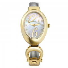Charriol Ladies Stainless Steel/Gold Bracelet Watch MOY.570.O02