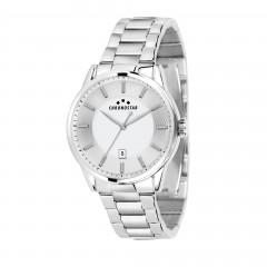 Chronostar Mens Silver Steel Watch