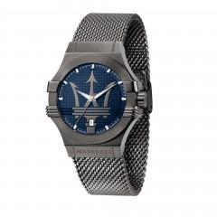 Maserati Mens Potenza Grey Stainless-Steel Quartz Dress Watch R8853108005