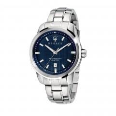 Maserati Mens Successo Quartz Stainless-Steel Strap, Silver, 20 Casual Watch R8853121004