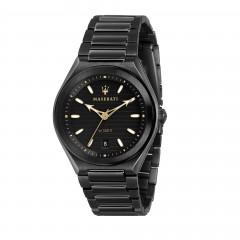 Maserati Analog Black Dial Mens Bracelet Watch R8853139004