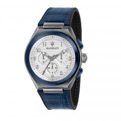 Maserati Blue Analog White Dial Mens Watch R8871639001