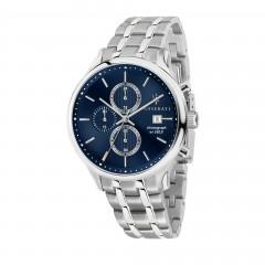 Maserati Mens Gentleman Quartz Stainless-Steel Strap, Silver, 20 Casual Bracelet Watch R8873636001