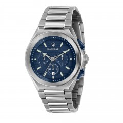 Maserati Stainless Steel Bracelet Analog Blue Dial Mens Watch R8873639001