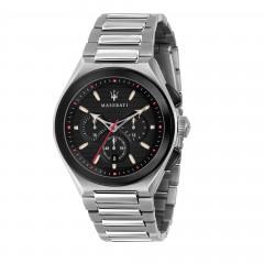 Maserati Stainless Steel Bracelet Analog Black Dial Mens Watch R8873639002