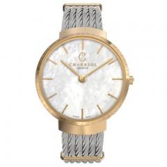 Charriol Lady Stainless Steel/Gold Bracelet Slim Watch ST34CY.560.002