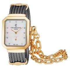 Charriol Womens Stainless Steel/Gold Bracelet Swiss Quartz Watch STREY.560.001