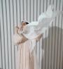 Pleated Back Abaya - XXL - UK 16 - 60