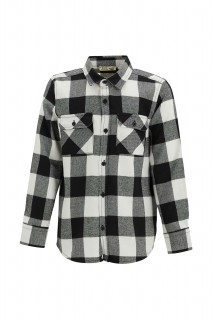 Boy's Long Sleeve Shirt BLACK 3/4