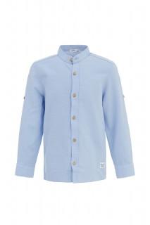 Boy's Long Sleeve Shirt LT.BLUE 3/4
