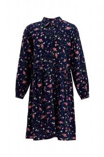 Girl's Woven Dress NAVY 5/6
