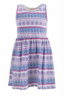 Girl's Knitted Dress D.BLUE 3/4