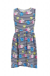 Girl's Knitted Dress NAVY 3/4