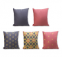 Set of 5 Cushion Cover - 50% Cotton 50% Polyester- 45x45cm (each)-13