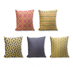 Set of 5 Cushion Cover - 50% Cotton 50% Polyester- 45x45cm (each)-20