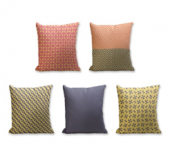 Set of 5 Cushion Cover - 50% Cotton 50% Polyester- 45x45cm (each)-21