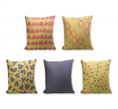 Set of 5 Cushion Cover - 50% Cotton 50% Polyester- 45x45cm (each)-23
