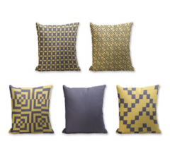 Set of 5 Cushion Cover - 50% Cotton 50% Polyester- 45x45cm (each)-27