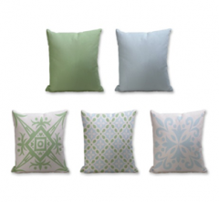 Set of 5 Cushion Cover - 50% Cotton 50% Polyester- 45x45cm (each)-29
