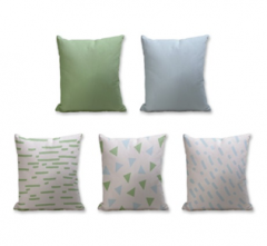 Set of 5 Cushion Cover - 50% Cotton 50% Polyester- 45x45cm (each)-30
