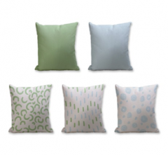 Set of 5 Cushion Cover - 50% Cotton 50% Polyester- 45x45cm (each)-31