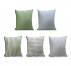 Set of 5 Cushion Cover - 50% Cotton 50% Polyester- 45x45cm (each)-32