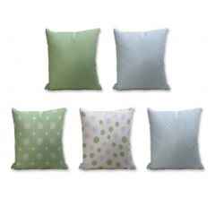 Set of 5 Cushion Cover - 50% Cotton 50% Polyester- 45x45cm (each)-33