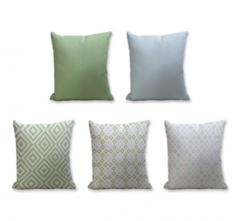 Set of 5 Cushion Cover - 50% Cotton 50% Polyester- 45x45cm (each)-34