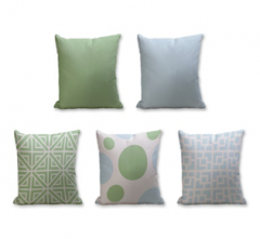 Set of 5 Cushion Cover - 50% Cotton 50% Polyester- 45x45cm (each)-37