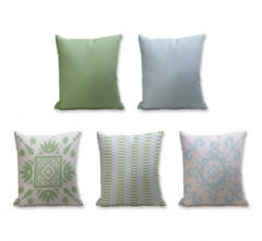 Set of 5 Cushion Cover - 50% Cotton 50% Polyester- 45x45cm (each)-38