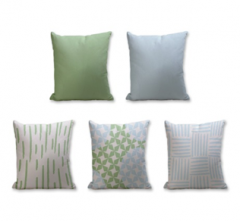Set of 5 Cushion Cover - 50% Cotton 50% Polyester- 45x45cm (each)-39