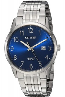 Citizen 3 Hands watch - GNT 3H SS BLU BI5000-52L