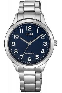 Q&Q Standard watch - GNT 3H SS BLU C228-801Y