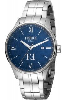 Ferrè Milano watch - GNT 3H SS BLU FM1G112M0251