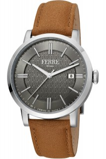 Ferrè Milano watch - GNT 3H LTH SILV FM1G156L0021