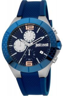 Just Cavalli Sport watch - GNT CHR PU BLU JC1G081P0035