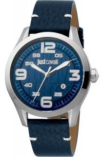 Just Cavalli Young watch - GNT 3H LTH BLU JC1G108L0015