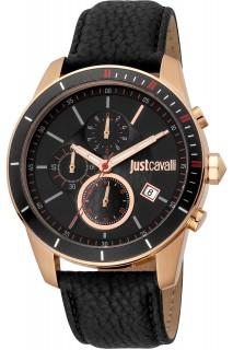 Just Cavalli Sport watch - GNT CHR LTH BLK JC1G166L0025