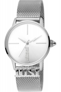 Just Cavalli Ladies Watch Logo JC1L078M0015 - Silver
